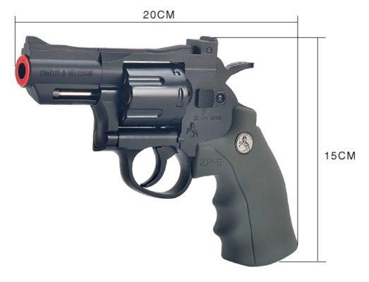 súng python màu đen bắn đạn thạch