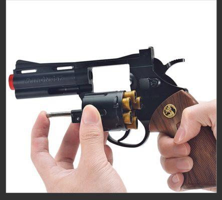 Súng lục đạn thạch, súng xoay nòng đạn thạch