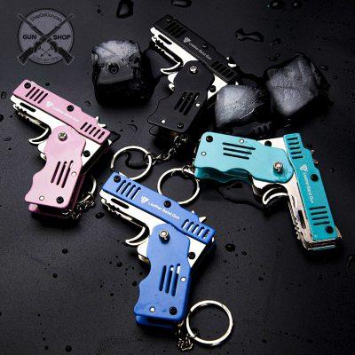 móc khóa hình súng